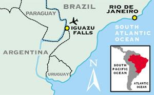 Iguazu Falls Adventure Travel For Plus - Map argentina national parks
