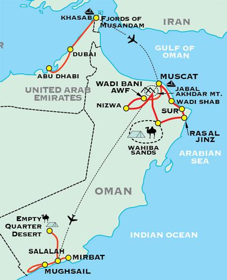 Oman Adventure Travel For Plus - Oman map download